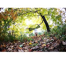 Autum Handstand in Central Park, New York  Photographic Print