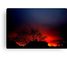 London's incredible sunrise 19/12/11 Canvas Print