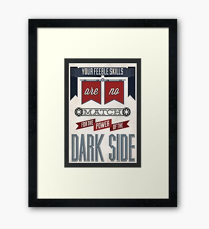 Star Wars Quote Poster Framed Print