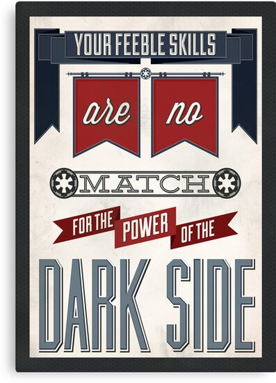 Star Wars Quote Poster by Tony Bamber
