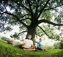 Meditation under the tree Central Park, New York by Wari Om  Yoga Photography