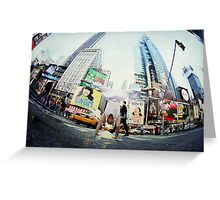 Yoga, handstand at Times Square, New York Greeting Card