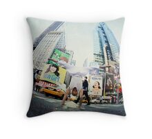 Yoga, handstand at Times Square, New York Throw Pillow