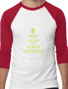 Keep Calm and Blame Sorcery Men's Baseball ¾ T-Shirt