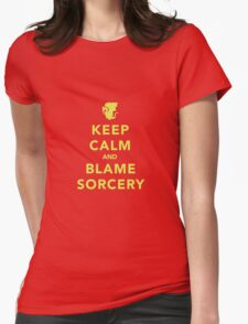 Keep Calm and Blame Sorcery Womens Fitted T-Shirt