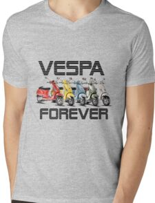 Vespa Forever Mens V-Neck T-Shirt