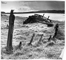 """Wreck of the """"Severn Collier"""" at Purton, Gloucestershire. Poster"""