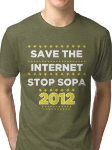 Save the Internet - Stop SOPA Tri-blend T-Shirt