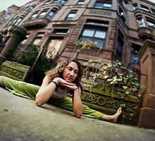 Green Yoga at Harlem, New York by Wari Om  Yoga Photography