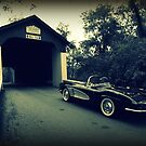 Vintage Vette ~ Van Sandt Covered Bridge by reindeer