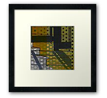 Polka Dot Abstract Framed Print