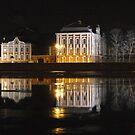 Winter City on River by cishvilli