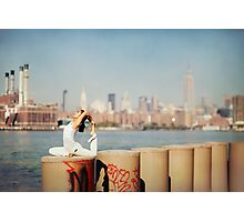 Yoga in Williamsburg, New York City Photographic Print