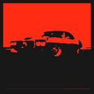 Pontiac Firebird, 1969 - Red on black by uncannydrive