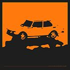 Saab 99 EMS,  1974 - Orange on black by uncannydrive