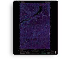 USGS Topo Map Washington State WA Aladdin 239773 1966 24000 Inverted Canvas Print