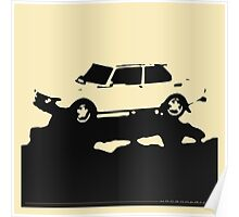 Saab 99 EMS,  1974 - Black on cream Poster