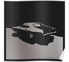 Mercury Marauder,  1969 - Gray on black Poster