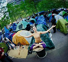 Occupy Wall Street with Yoga, we are the 99% by Wari Om  Yoga Photography