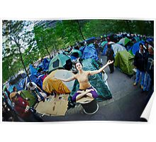 Occupy Wall Street with Yoga, we are the 99% Poster