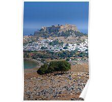 Lindos, Rhodes, Greece Poster