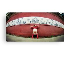 Handstand at DUMBO, New York City Canvas Print