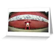 Handstand at DUMBO, New York City Greeting Card