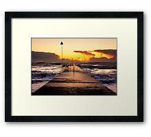Millenium Pier, Seascale ~ 18th December 2011 Framed Print