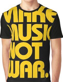 Make Music Not War (Mustard) Graphic T-Shirt