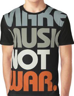 Make Music Not War (Retro) Graphic T-Shirt
