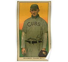 Benjamin K Edwards Collection Ed Reulbach Chicago Cubs baseball card portrait 001 Poster