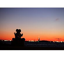 Sunset Yoga Meditation at New York City Photographic Print
