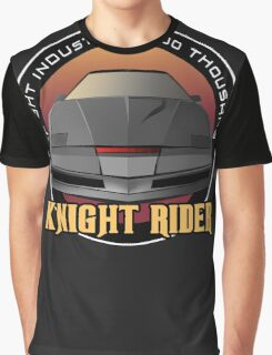 Knight Rider Logo KITT Car Graphic T-Shirt