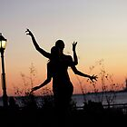 Yoga Dance on the sunset, New York by Wari Om  Yoga Photography