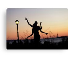 Yoga Dance on the sunset, New York Canvas Print