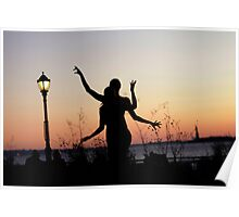 Yoga Dance on the sunset, New York Poster
