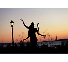 Yoga Dance on the sunset, New York Photographic Print