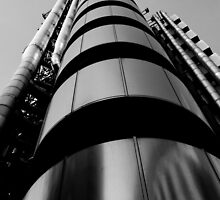 Lloyds Of london Building London Black and white by DavidHornchurch