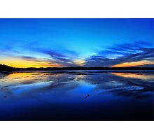Blues and Yellows - Tuggerah Lake, Long Jetty Photographic Print