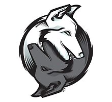 Yin Yang Animals - Wolves by EM Graphic Art