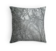 Snowy Forest, Winter Dreams Throw Pillow