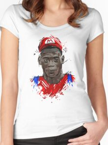 Super Mario Balotelli Women's Fitted Scoop T-Shirt