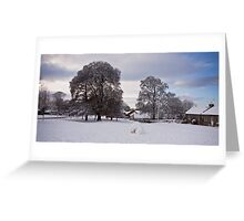 Snow on the Village Green Greeting Card
