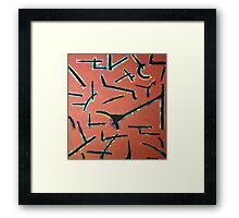 Everyone was talking at once Framed Print