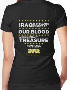 Iraq is in Flames - Ron Paul for President 2012 Women's Fitted V-Neck T-Shirt