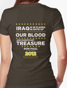 Iraq is in Flames - Ron Paul for President 2012 Womens Fitted T-Shirt