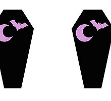Bat Coffin Moon Pastel by spacealiens