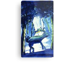 Where is Rudolf,? I may have spied him,,,watercolor Metal Print