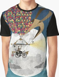 Flying Bicycle Graphic T-Shirt