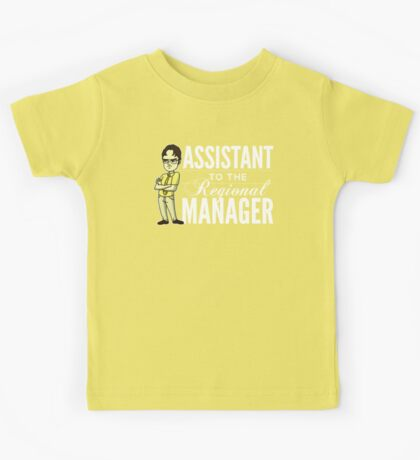 Assistant TO THE Regional Manager (Variant) Kids Tee